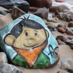 Kolorowy kamień nad Bałtykiem