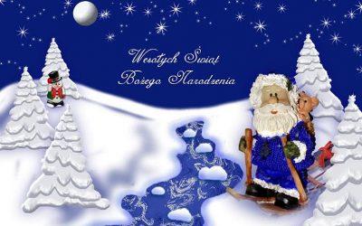 Życzenia zokazji Świąt Bożego Narodzenia iNowego Roku