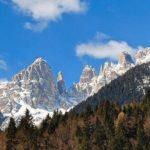 Ostre skałki w Dolomitach