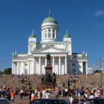 Plac Senacki i katedra luterańska w Helsinkach